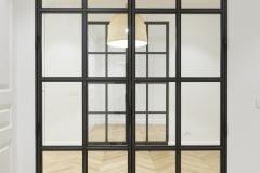 Puerta decorativa interior vivienda reformada