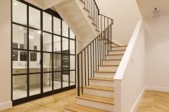 otra vista de las escaleras duplex